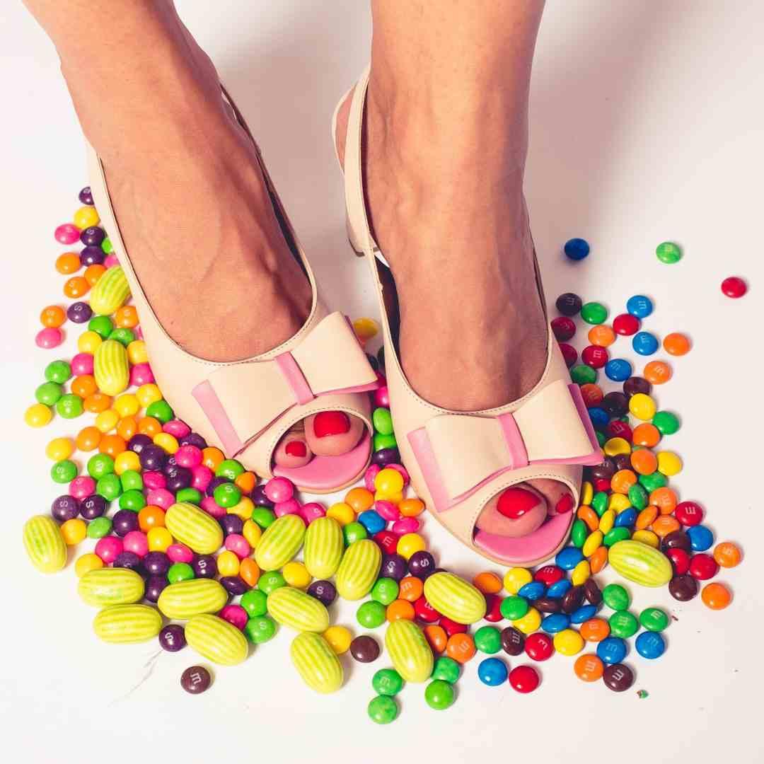 Sandale cu fundă