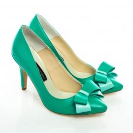 Pantofi stiletto cu fundă 3
