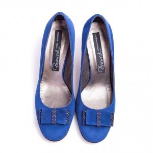 Pantofi clasici cu toc şi fundiţă Mia 1