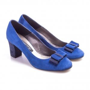 Pantofi clasici cu toc şi fundiţă Mia 2