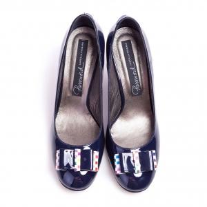 Pantofi clasici cu toc şi fundiţă Eva 1