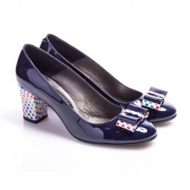 Pantofi clasici cu toc şi fundiţă Eva 2