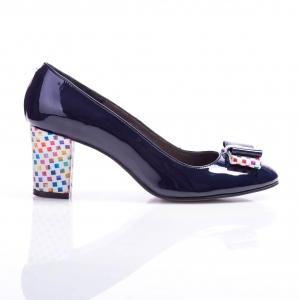 Pantofi clasici cu toc şi fundiţă Eva 3
