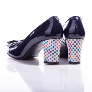 Pantofi clasici cu toc şi fundiţă Eva 4