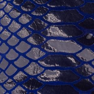 Bleumarin lucios cu firisoare croco albastru electric
