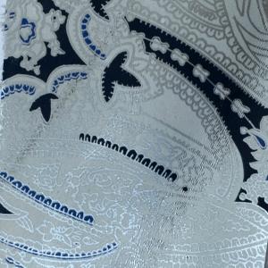 Print paisley fundal alb