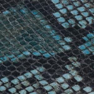 Snake print negru albastru