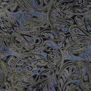 Print paisley bleu-argintiu