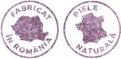 Produs fabricat in Romania, din piele naturala