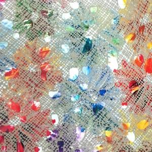 Bej cu splash floral multicolor