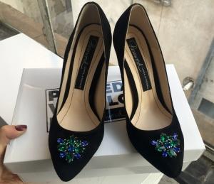Pantofi stiletto cu Swarovski 9