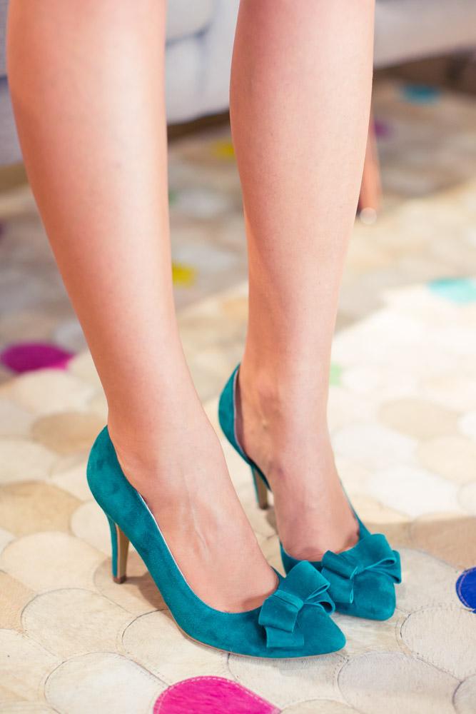 Pantofi cu toc și fundiță Serenity 5