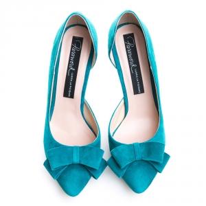 Pantofi cu toc și fundiță Serenity