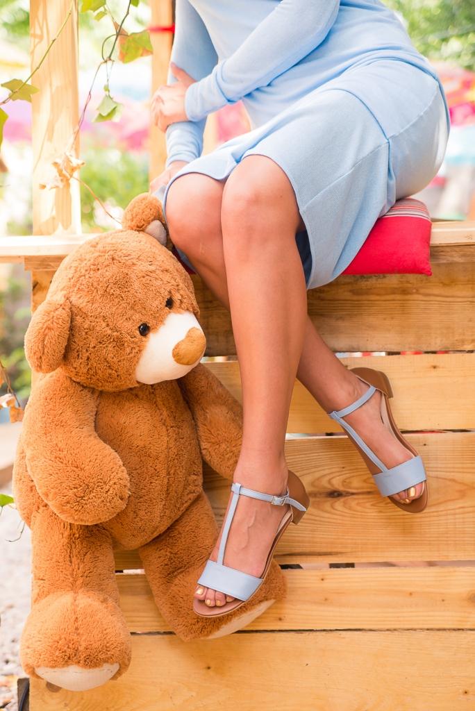 Sandale bleu 5