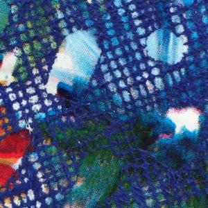 Albastru cu sparkles multicolore
