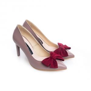 Pantofi stiletto ciocolata cu lapte 2