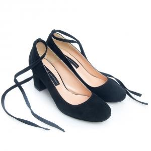 Pantofi negri comozi 3