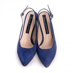 Pantofi cu toc mic și baretă la spate 2