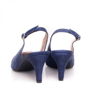 Pantofi cu toc mic și baretă la spate 5