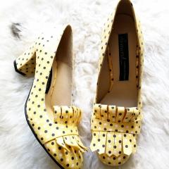 pantofi-galbeni-cu-buline