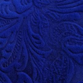 Albastru electric piele intoarsa texturat floral