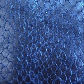 Albastru sidefat snake print