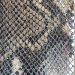 Argintiu-negru snake print