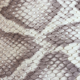 Bej-maro snake print