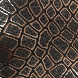 Cupru snake pe fundal negru