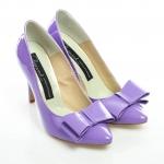 Pantofi stiletto cu fundă 1
