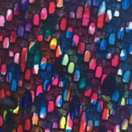 Multicolor deschis texturat ca o impletitura