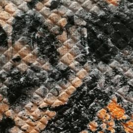 Portocaliu, bej, negru snake print