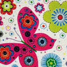 Print fluturi si flori