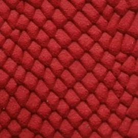 Rosu snake print piele intoarsa