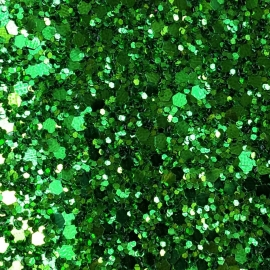 Verde crud glitter