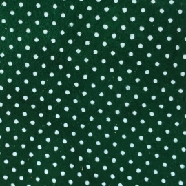 Verde cu buline albe piele intoarsa