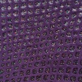 Violet piele intoarsa texturat cu sparkles multicolor