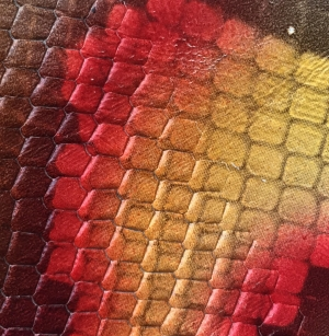 Maro, portocaliu, galben snake print