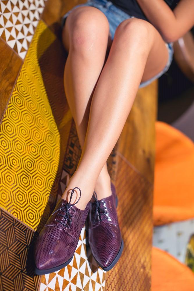 Pantofi derby cu șireturi Luna