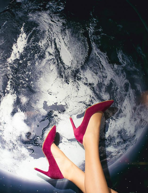 Pantofi cu toc World at your Feet 6