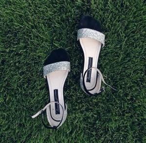 Sandale glittery