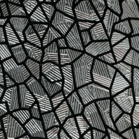 Argintiu texturat cu negru