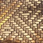 Auriu texturat ca o impletitura