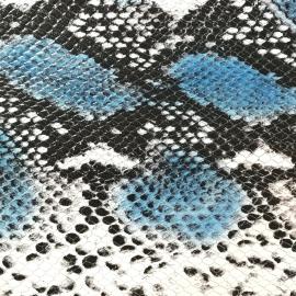 Bleu snake print