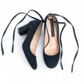 Pantofi negri comozi 5