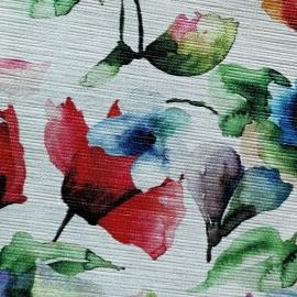 Flori pe fundal alb