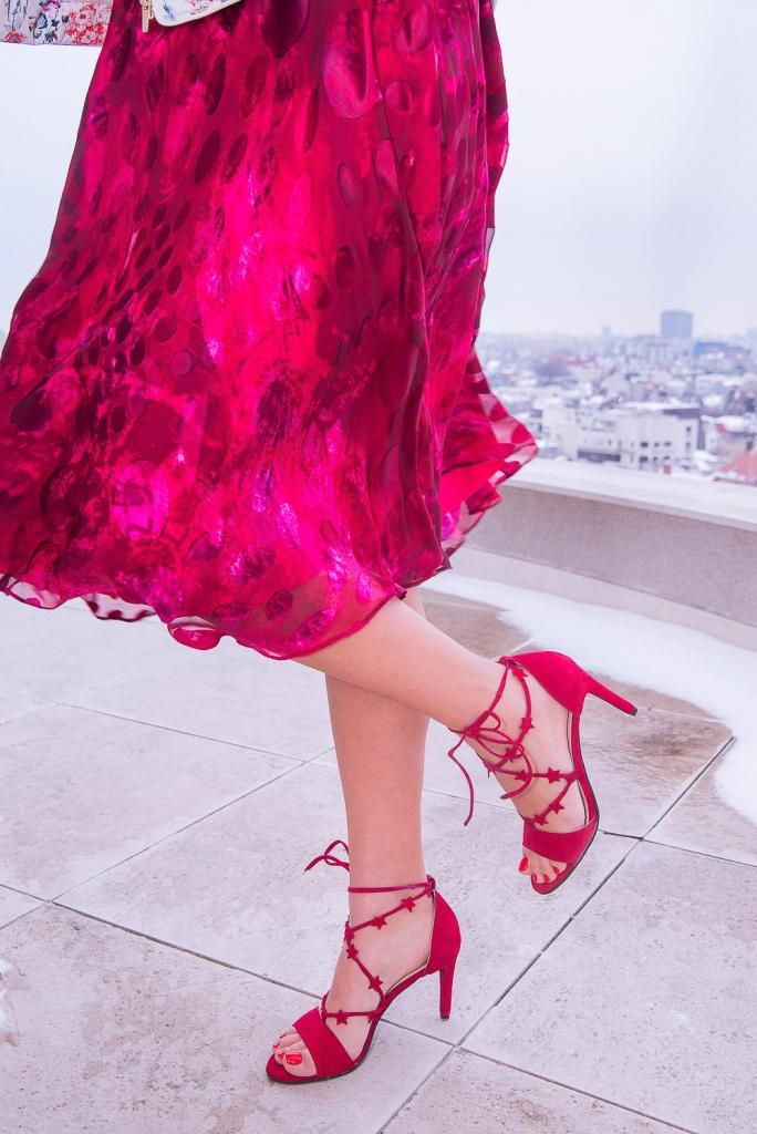 Sandale cu șiret YUM-YUM