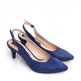 Pantofi cu toc mic și baretă la spate 3