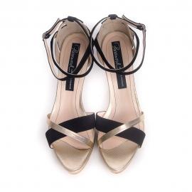 Sandale cu barete încrucișate și platformă Stop and Stare