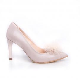 Pantofi stiletto cu pompon PUF 2